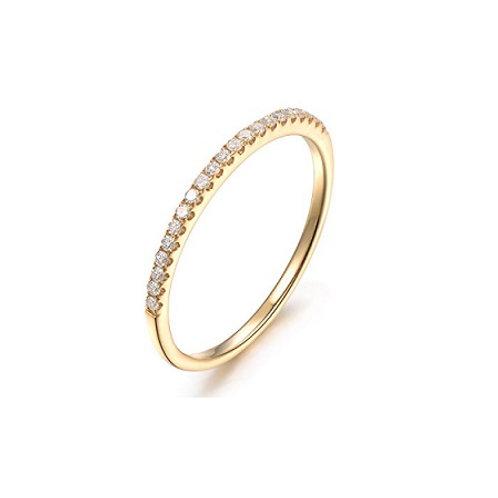 Skinny Eternity ring- 9k gold & diamonds