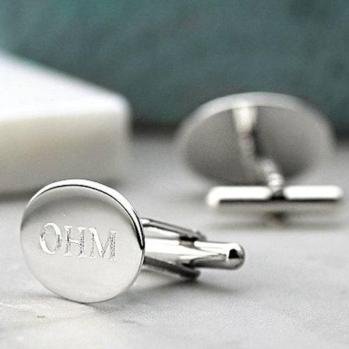 OVAL cufflink- Sterling silver