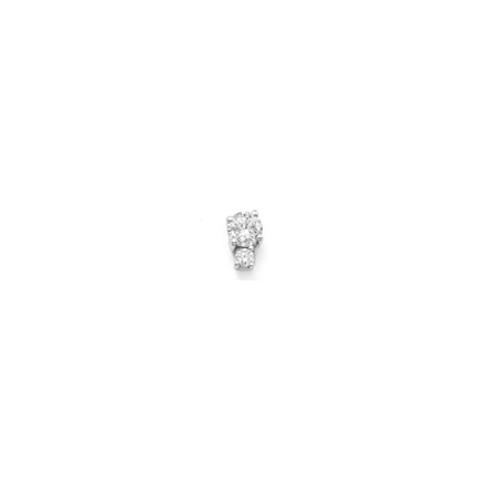DUO Stud- Sterling silver & gemstones