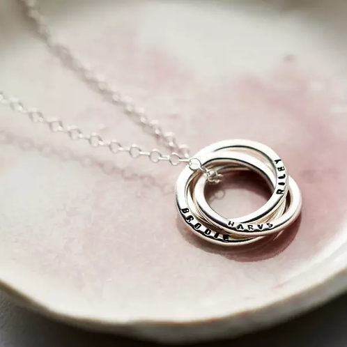 RUSSIAN RING necklace- Sterling silver