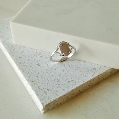 Kids SHIELD signet ring- Sterling silver