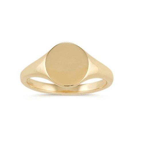 DEMI signet ring- 9k gold