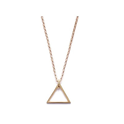 TRIANGLE necklace- 9k gold