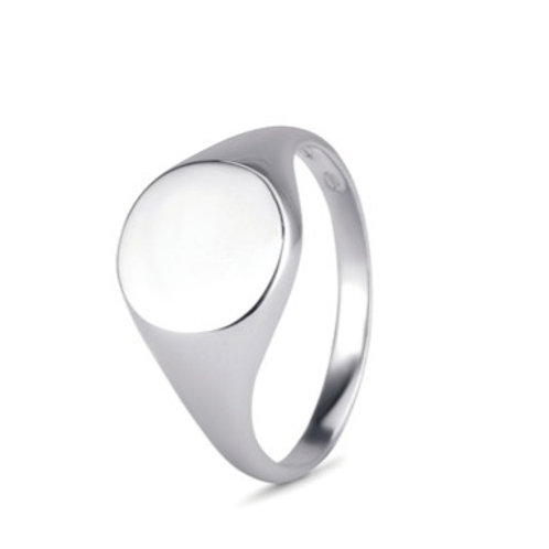 Gents Round signet ring-  9k gold
