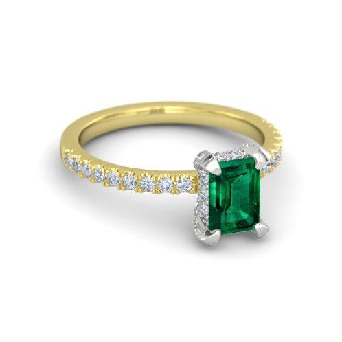 ERIN 18k Gold Emerald and Diamond Ring