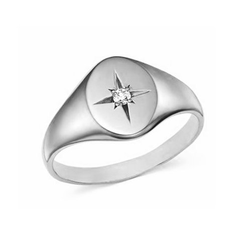 LAYLA signet ring- Sterling silver