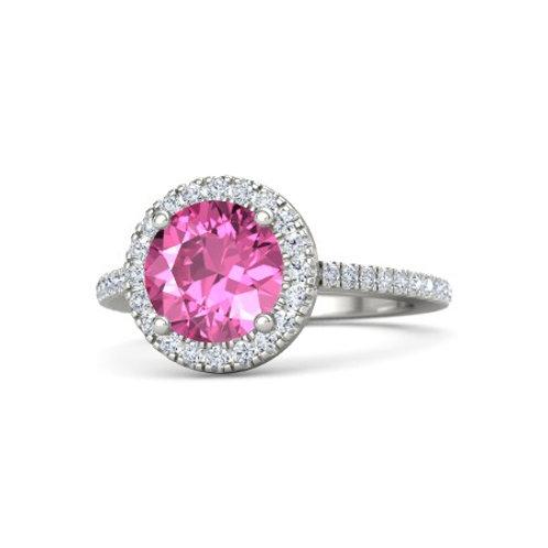 HARPER 18k Gold Pink Sapphire and Diamond Ring
