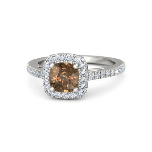 KATHERINE 18k Gold Cognac and White Diamond Ring