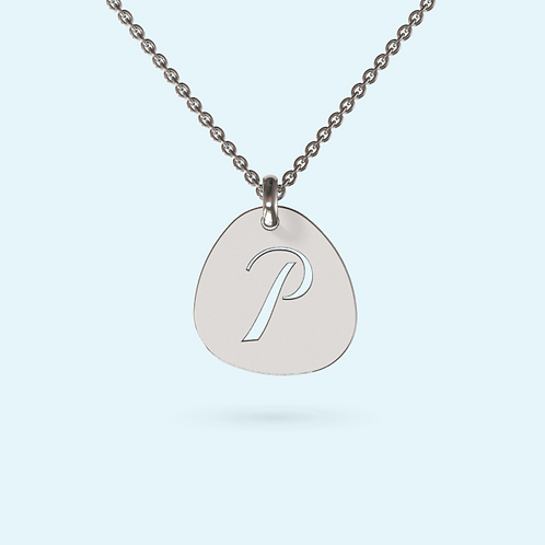 Pebble Pendant Necklace- 925 Sterling silver