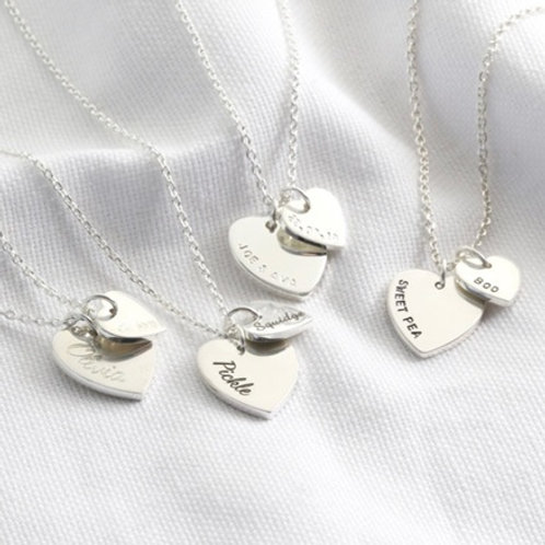 HEART necklace- Sterling silver