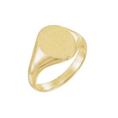 MILAN signet ring- 9k gold