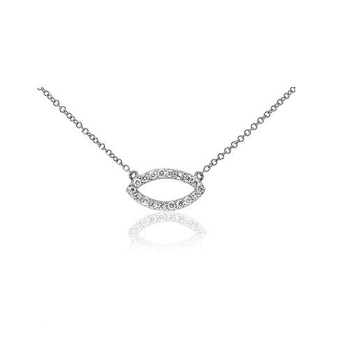 Mini ELLIPSE necklace- Sterling silver