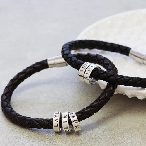 Sterling silver Bolo leather bracelet