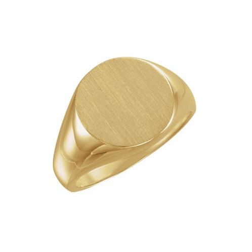 OXFORD signet ring- 9k gold