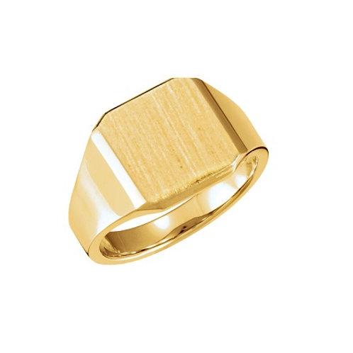 BROOKLYN signet ring- 9k gold