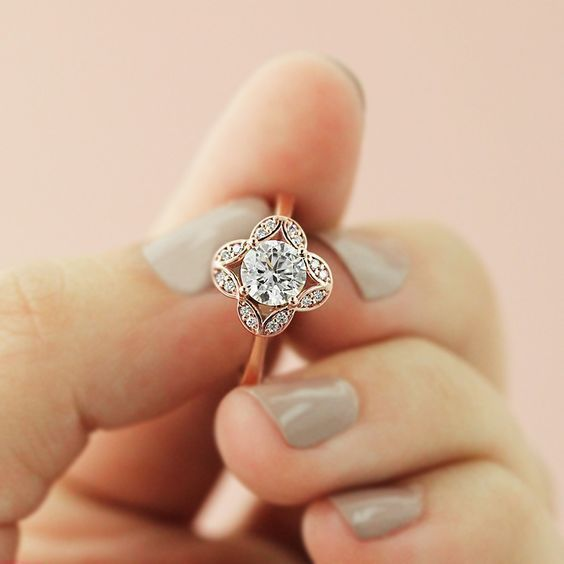 Fancy Diamond Engagement Ring_ Pinterest