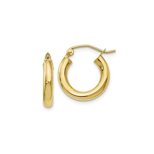 Chunky HOOP earrings- 9k gold