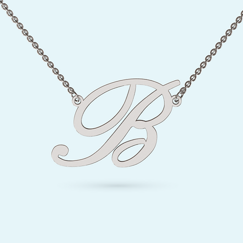 Initial Pendant Necklace- 925 Sterling silver