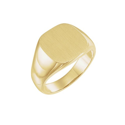 BRUSSELS signet ring- 9k gold
