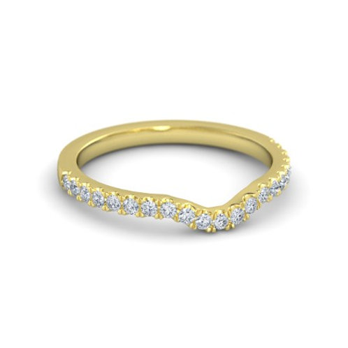 DIANNE eternity ring- 9k gold & diamonds