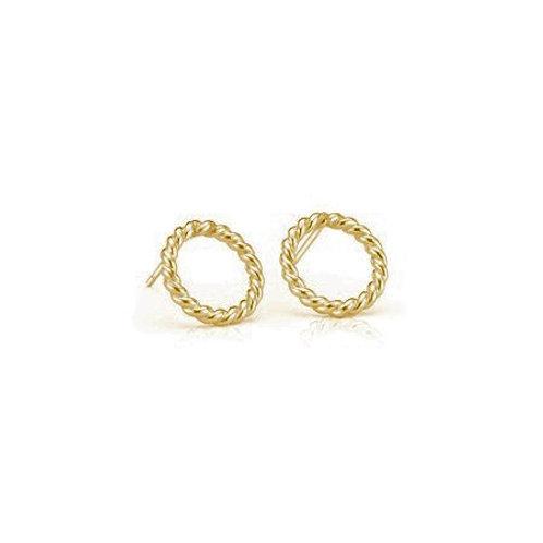 ROPE Circle Studs- 9k gold