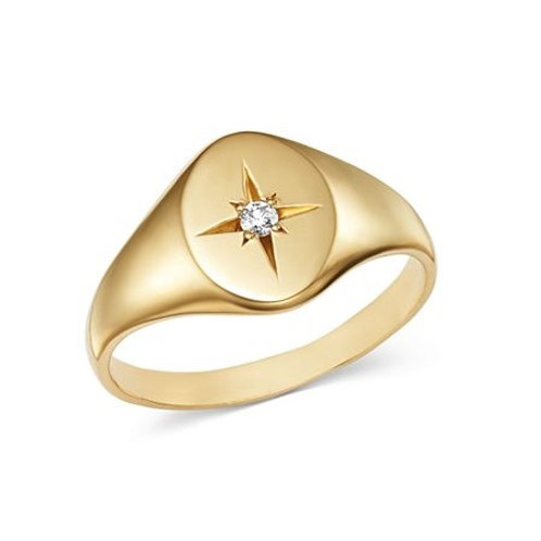 LAYLA signet ring- 9k gold