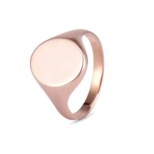 Gents Oval signet ring-  9k gold