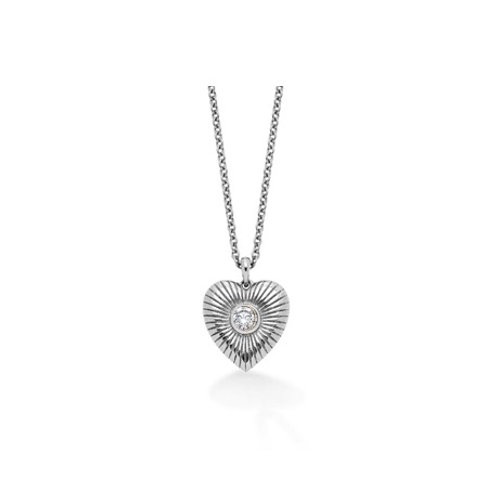 Radiant HEART necklace- Sterling silver