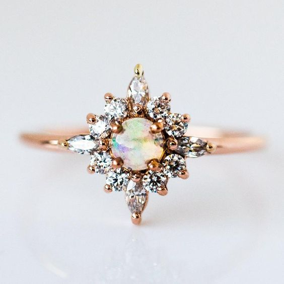 Skylar Ring with Opal by Local Eclectic.