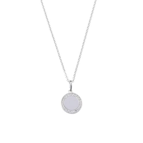 REVOLUTION necklace- 9k gold & CZ