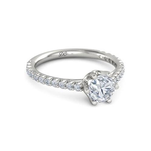 JULIE 18k Gold Diamond Engagement Ring