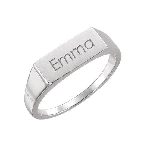 EMMA ladies rectangular-top signet ring