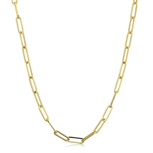 Paperclip chain- 9k gold