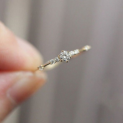 Diamond Engagement Ring_ Etsy