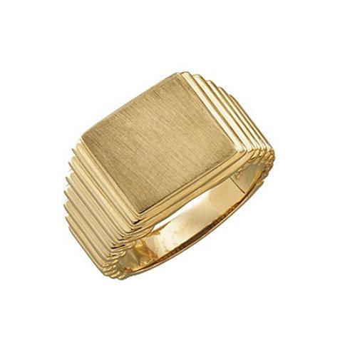 MONTE CARLO signet ring- 9k gold