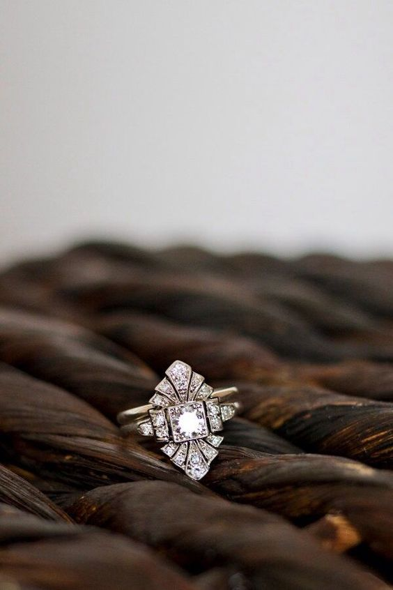 Art Deco Diamond Engagement Ring_ Pinter