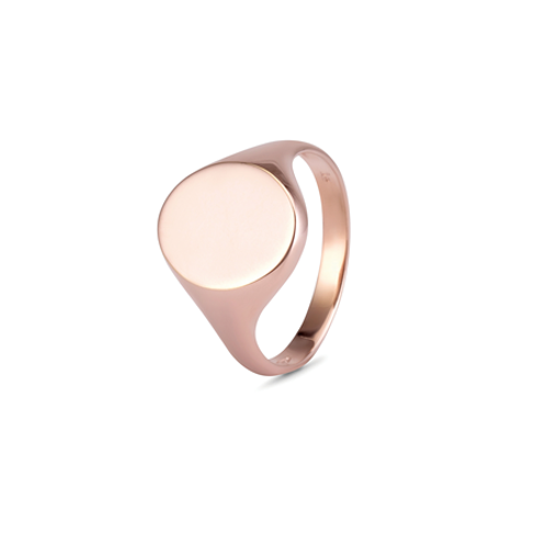 Ladies Oval signet ring-9k gold