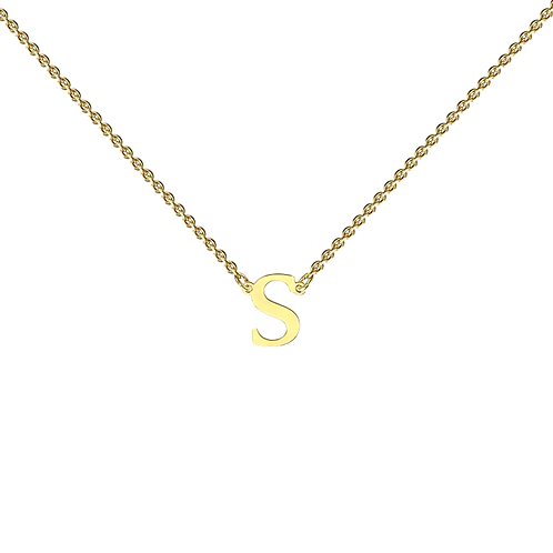 FLOATING INITIAL necklace- 9k gold