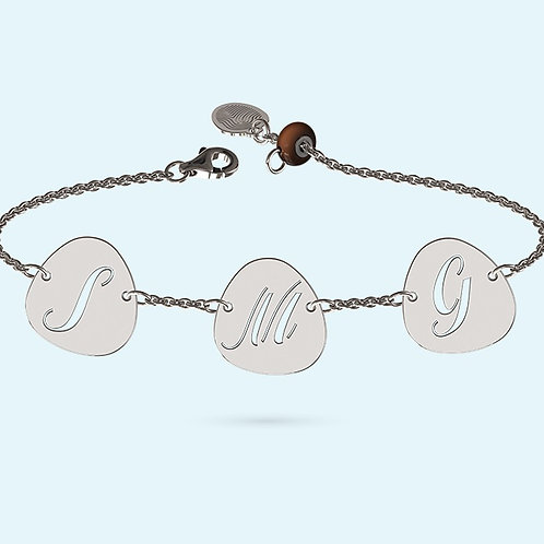 Multi Pebble Bracelet- 925 Sterling silver