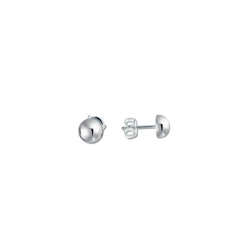 HALF BALL studs- Sterling silver