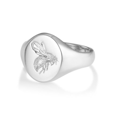 BEE signet ring- Sterling silver