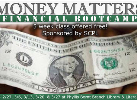 Schenectady County Public Library is Hosting Our 5-Week Financial Bootcamp for free to the public.