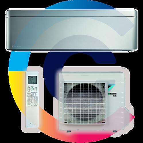 DAIKIN STYLISH EZÜST 3.5kW FTXA35BS/RXA35A, R-32 új környezetbarát hűtőközeg!