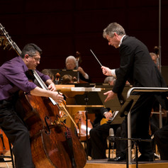 Perormance of Mark Scearce's Antaeus,  Concerto for Double Bass and Orchestra.