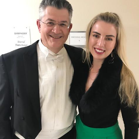 With Natasha Paremski, our piano soloist.