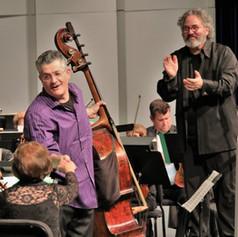 At Punta Gorda with Maestro Raffaele Ponti after performing Koussevitsky Double Bass Concerto.