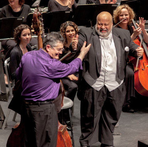 After the peformance of Koussevitsky Concerto with maestro William Curry and NCS.