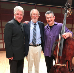 With Maestro Grant Llewellyn and composer Terry Mizesko after the Premiere of Terry's Double Bass Concerto.