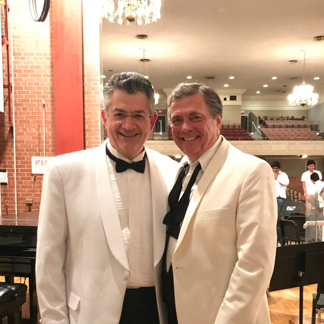 With Maestro Gerard Schwarz after another succesful summer at EMF.