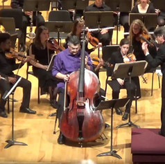 Performance of Koussevitsky Double Bass Concerto at EMF with the student orchestra and conductor Grant Cooper.